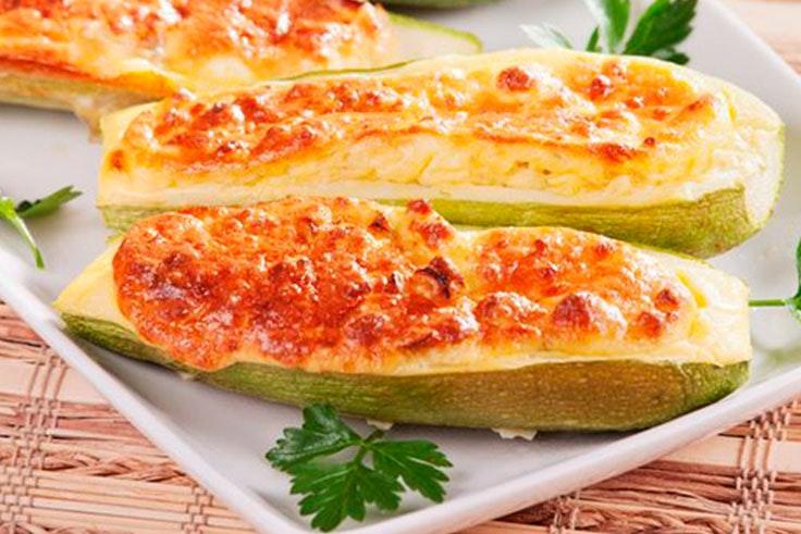calabaza con queso al graten