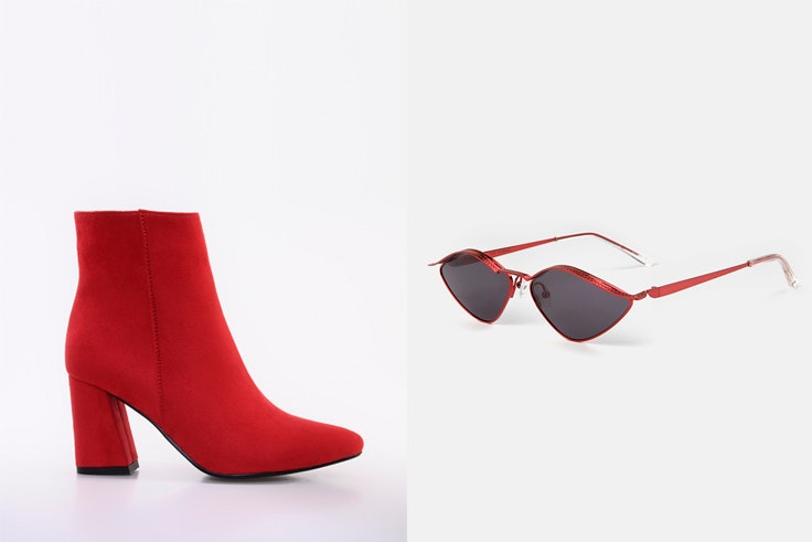 botas-rojas-tacon-marypaz-gafas-metal-rojo-multiopticas