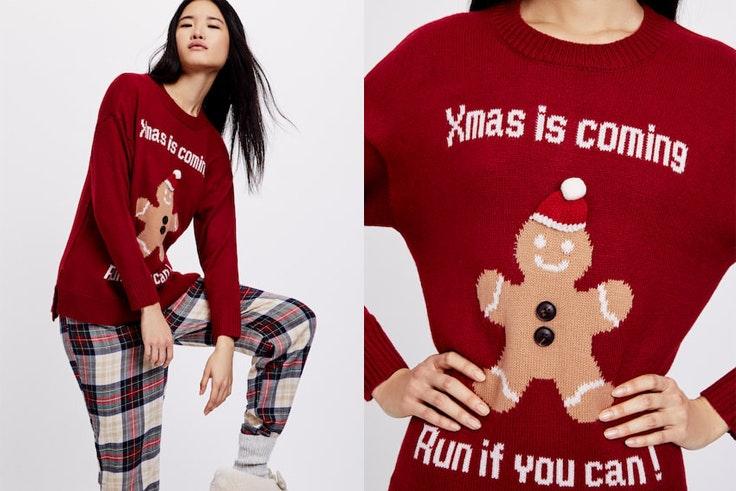 jersey-navidad-oysho-rojo-mensaje