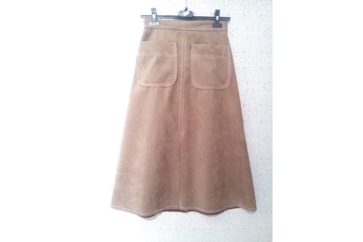 falda-midi-color-marron-love-story