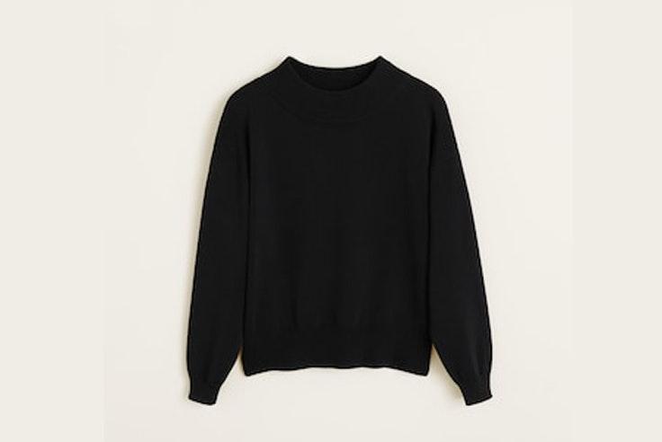 jersey-negro-punto-cuello-perkins-mango