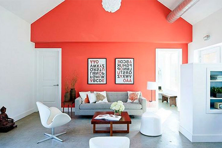 Living Coral en decoracion