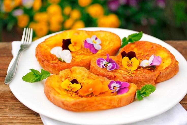torrijas con flores