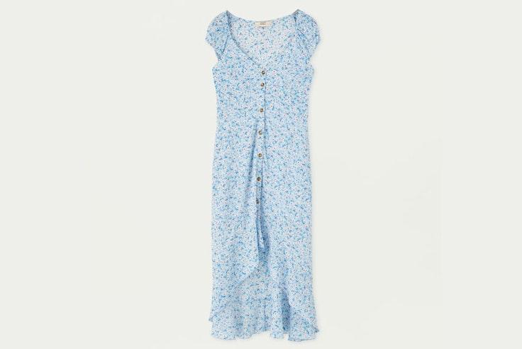 vestido-largo-camisero-estampado-floral-pull-and-bear