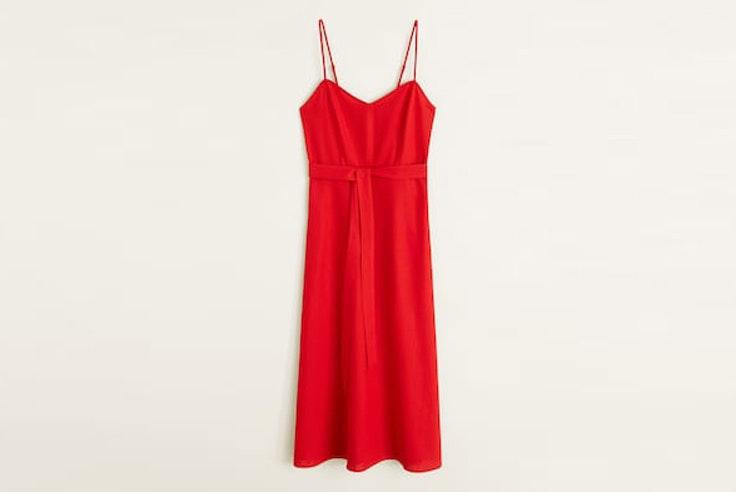 vestido-rojo-tirantes-nudo-mango