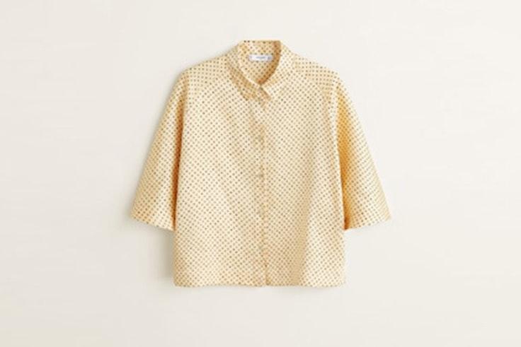 camisa-amarilla-estampado-lunares-mango