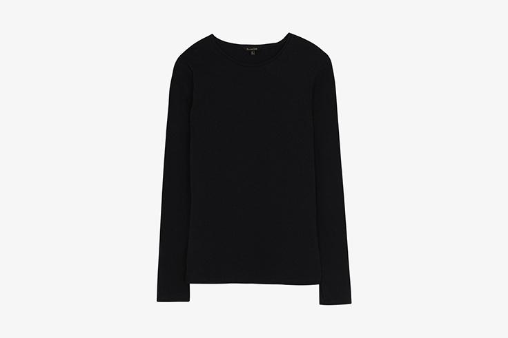 camiseta-negra-punto-manga-larga-massimo-dutti