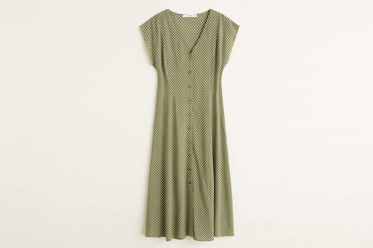 vestido-verde-estampado-lunares-mango