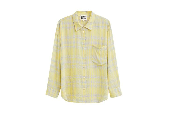 Camisa de cuadros amarilla de bimba y lola