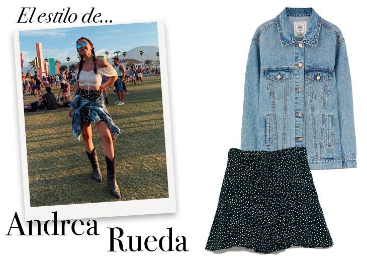 Andrea Rueda con look para la época de festivales