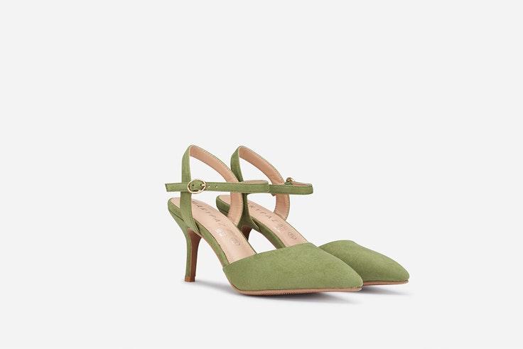 Zapatos de tacón en verde de Marypaz