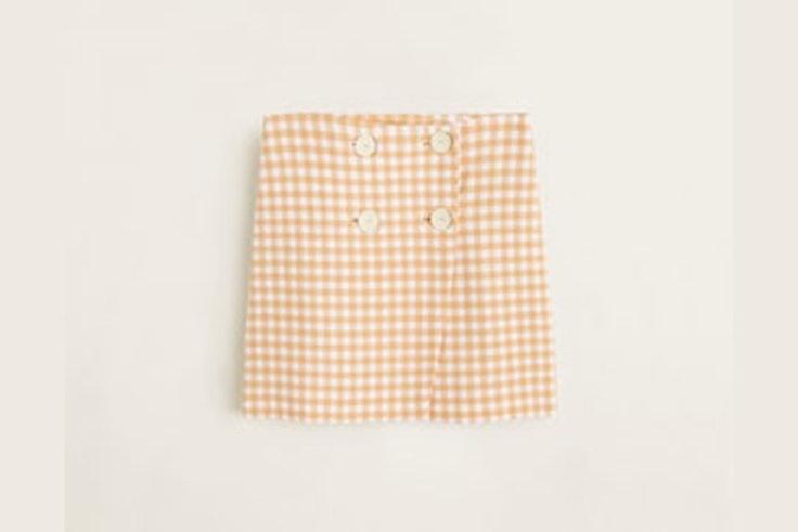 falda-cuadros-vichy-naranja-mango