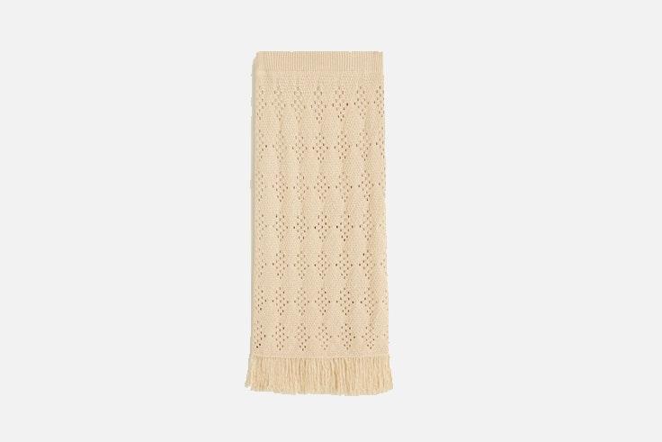 falda midi crochet mango