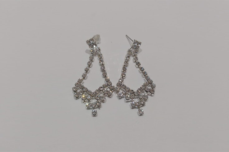 pendientes plata diamantes orange bleu