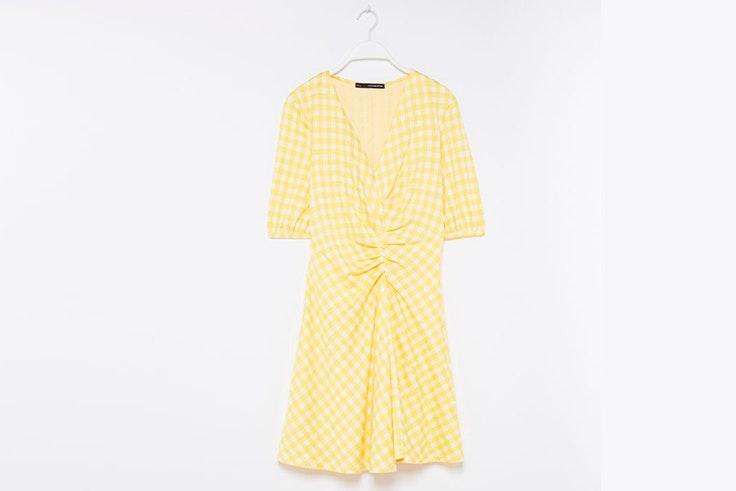 vestido-amarillo-estampado-cuadros-vichy-sfera