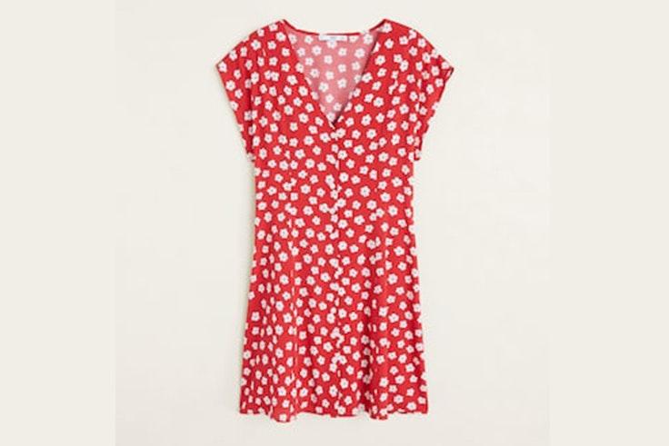vestido-rojo-estampado-flores-mango