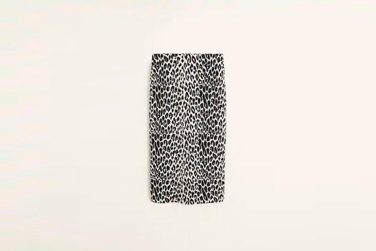 Falda animal print mango el estilo de Ana Rey