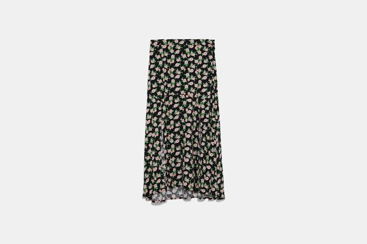falda flores zara el estilo de Emili Sindlev