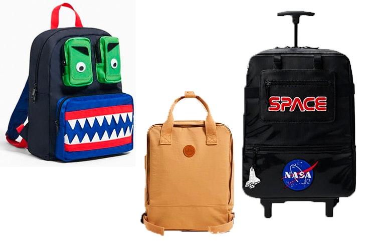 Mochila de monstruo (22,95€), mochila vintage (19,95€) y mochila Nasa (59,95€).
