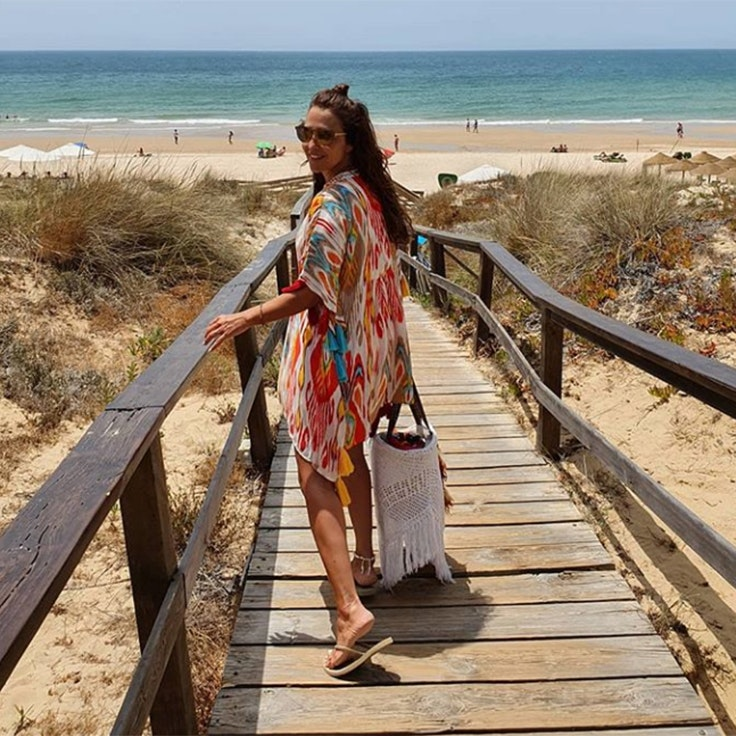 paula echevarria conjuntos de playa foto instagram