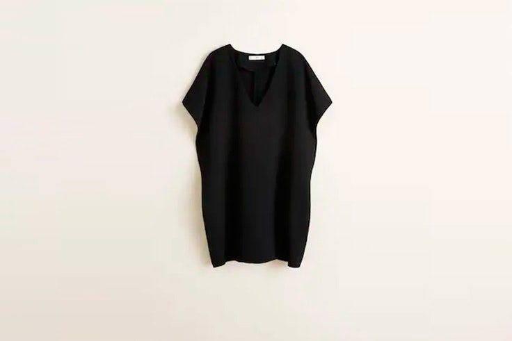 vestidos cortos negro mango