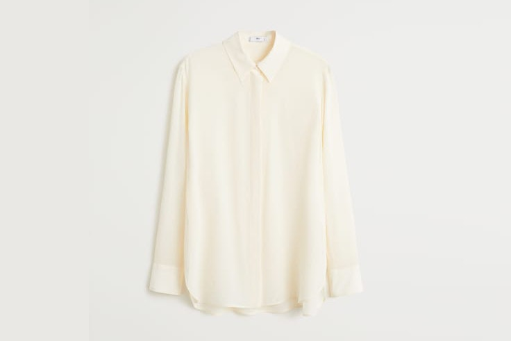 camisa blanco roto mango