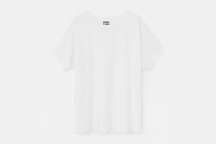 camiseta blanca basica bimba y lola