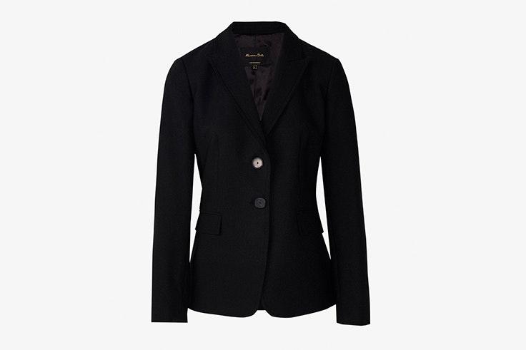 chaqueta blazer color negro clásica massimo dutti