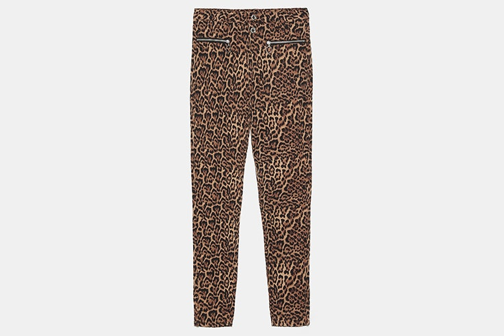 pantalon animal print zara