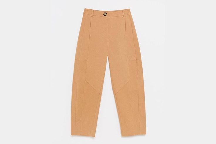 pantalon beige ancho sfera