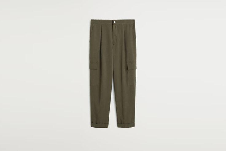pantalon cargo kaki de mango pernille teisbaek