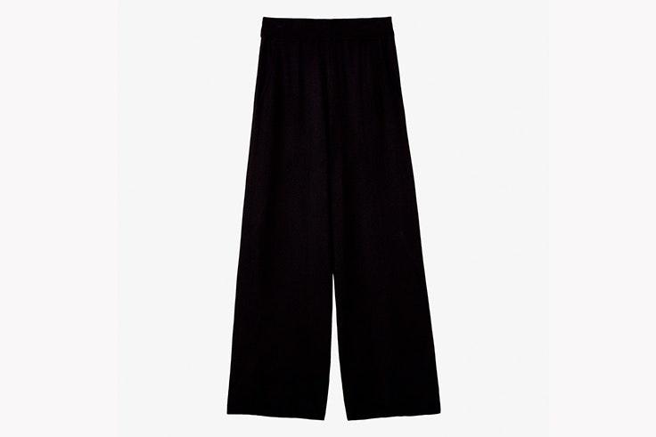 pantalon negro de punto massimo dutti
