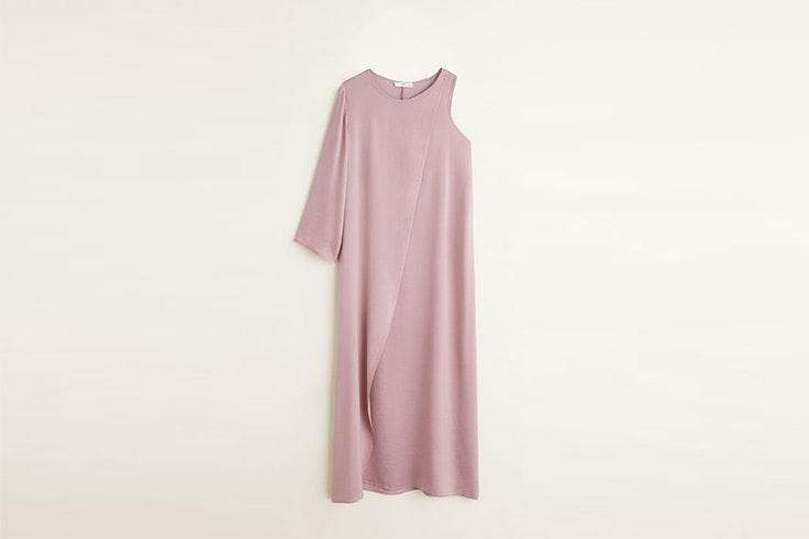 vestido lila mango