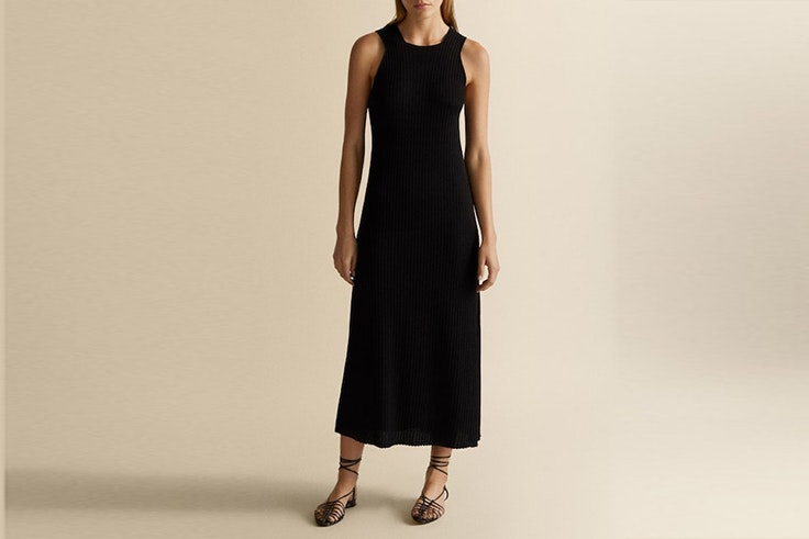 vestido massimo dutti vestidos largos