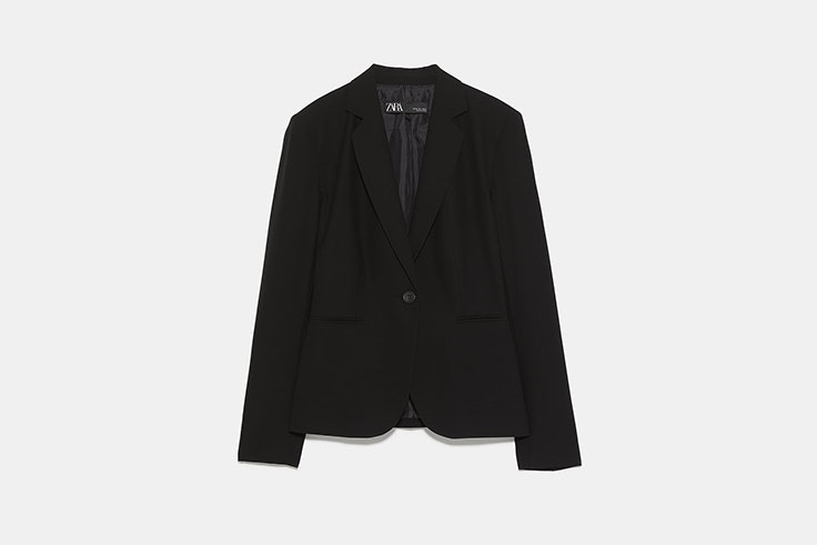 blazer basica negra chaquetas de entretiempo