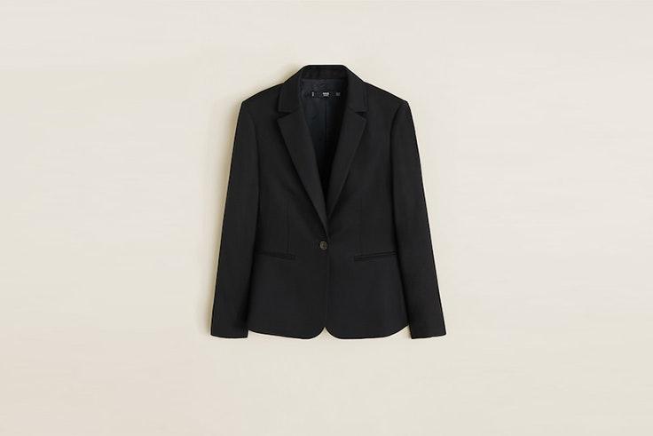 blazer negra mango Emelie