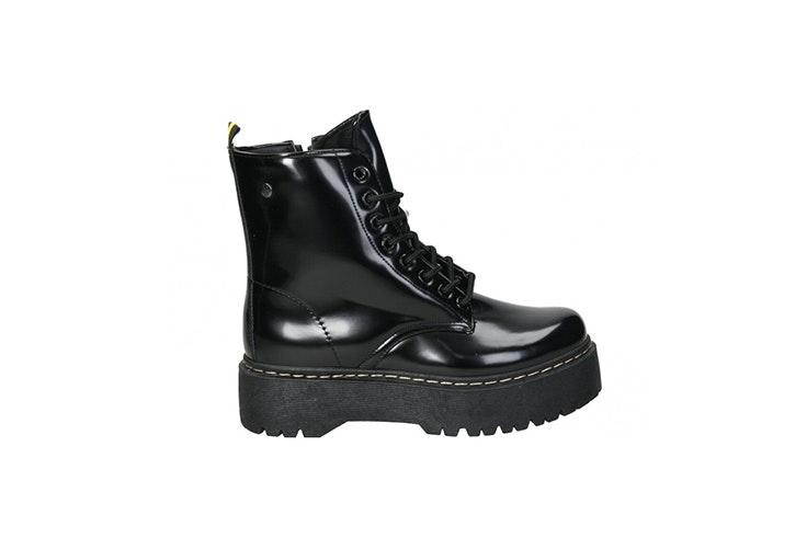 bota militar negra loogo Emelie