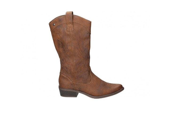 botas altas marrones cowboy zapateria loogo