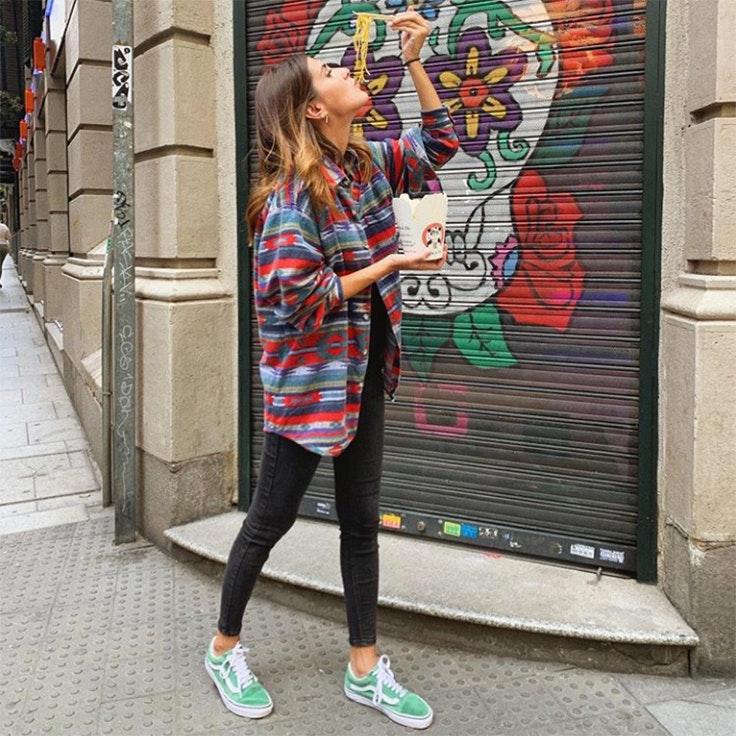 calzado de otoño maria turiel zapatillas verdes