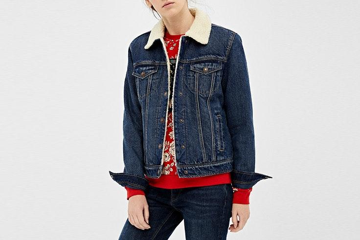 cazadora denim borreguito springfield chaquetas de entretiempo