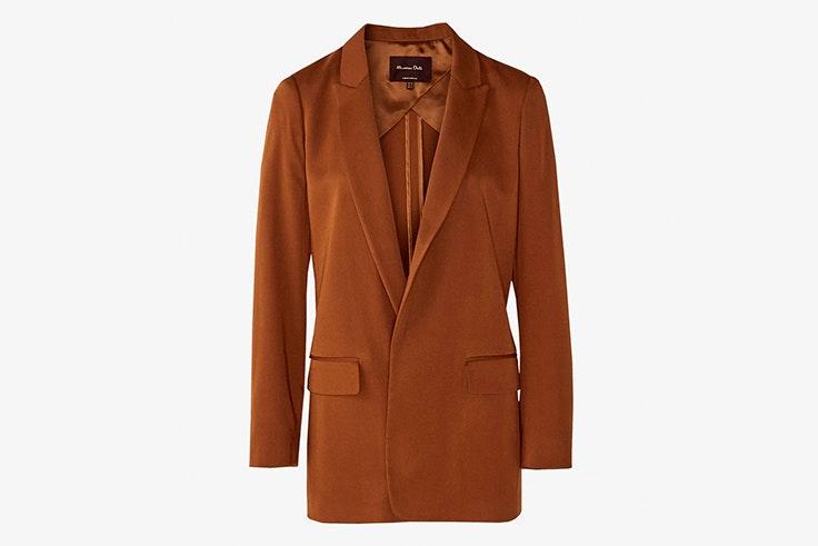 chaqueta americana marrón massimo dutti
