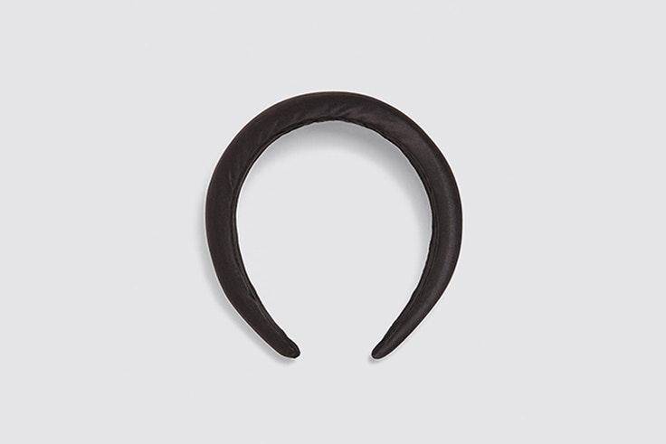 diadema satinada negra zara accesorios de otoño