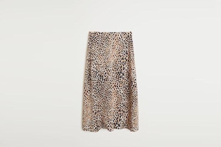 falda midi animal print mango Nuria Roca
