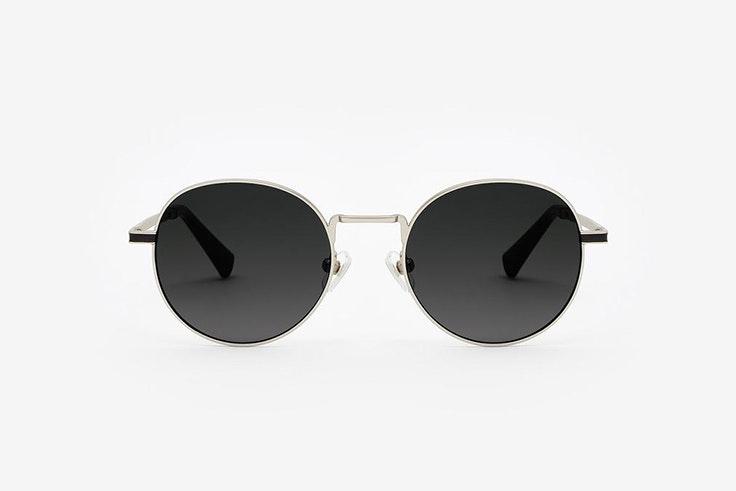 gafas de sol redondas negro plata hawkers accesorios de otoño