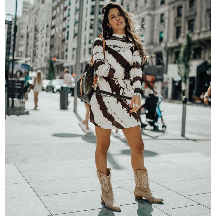 paula loves estilo calzado otoño botas cowboy color beige