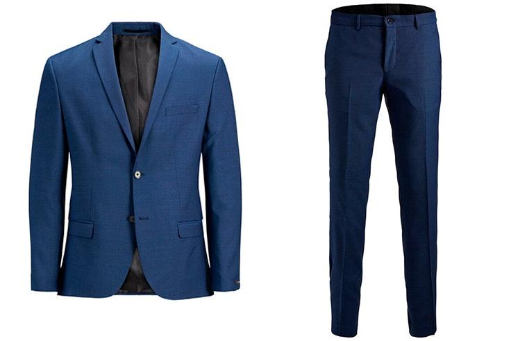 traje chaqueta pantalón azul marino jack and jones
