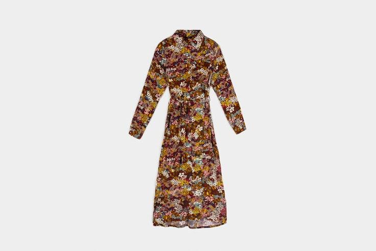 vestidos de flores tostados parfois
