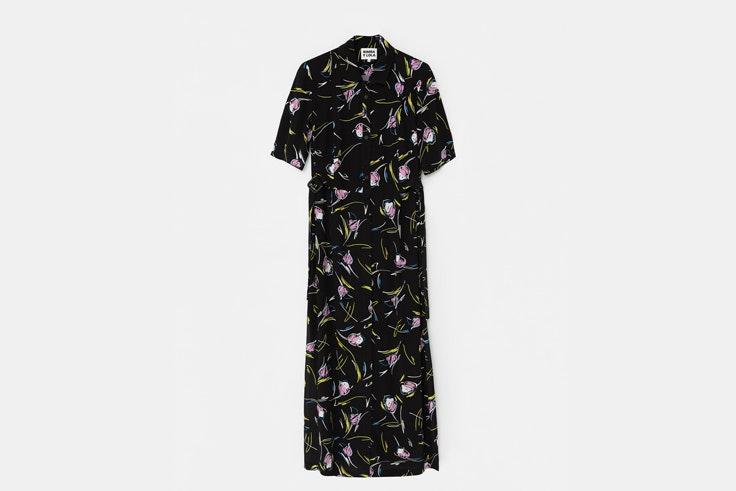 vestido estampado tulipanes negro bimba y lola vestidos de flores