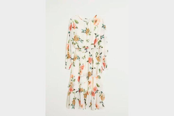 vestidos de flores color crudo mango