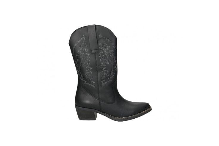 botas cowboy loogo negras botas de invierno